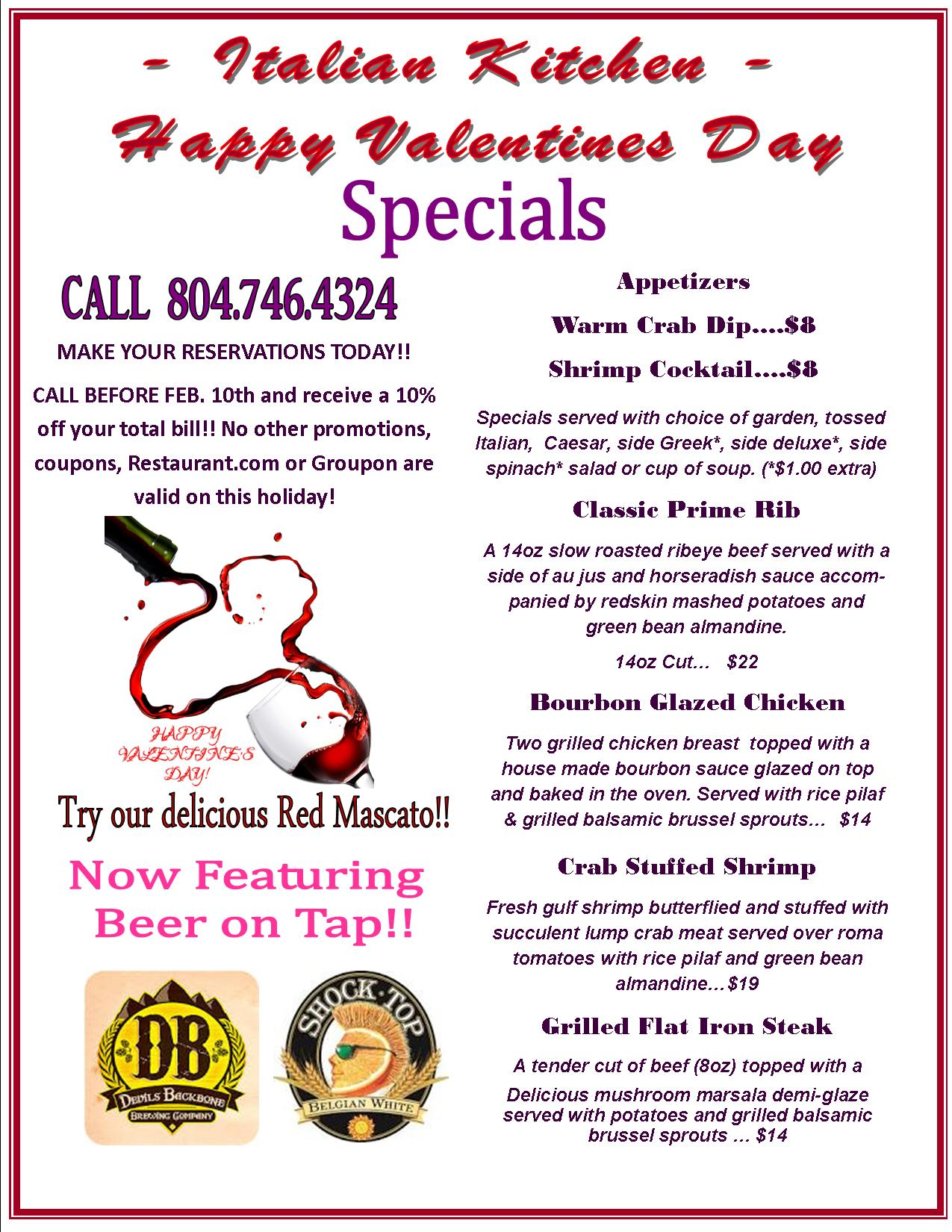 2015 Valentine S Specials Richmond Weddings