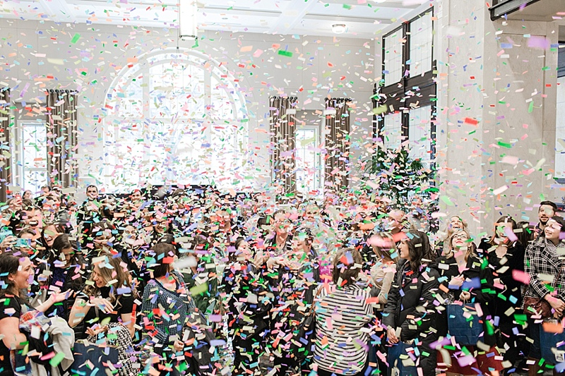 The Wedding Crasher's Tour utilized confetti cannons! Photo by Shalese Danielle Photography
