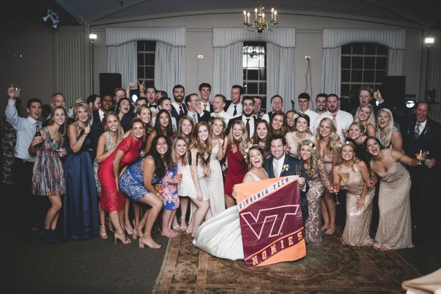 Hokies Suzanna O'Neil Real Richmond Wedding Virginia Fall Beautiful