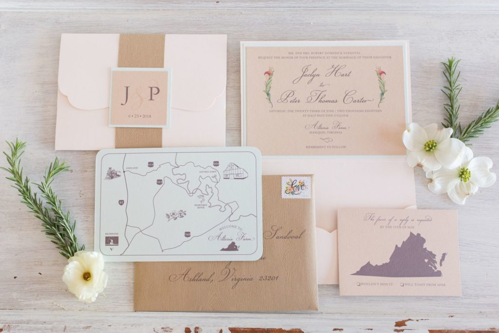 Papeterie Fine stationary gifts printing styles perfect invitation richmond wedding