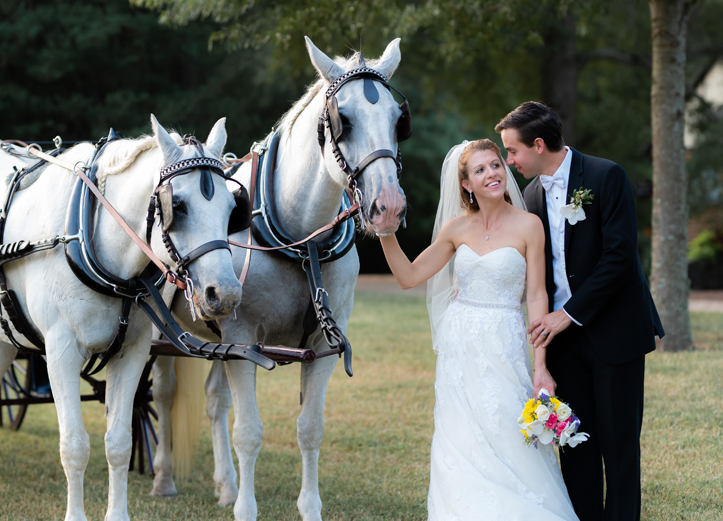 Real Richmond Weddings Erin George Horses Fall Wedding