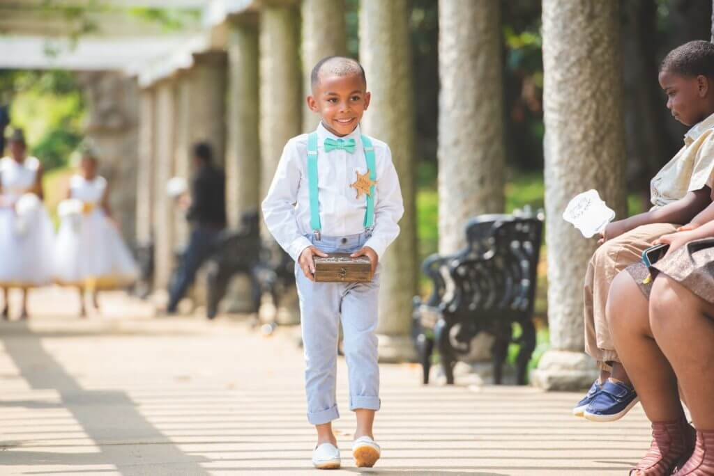 Ring bearer for spring Richmond Wedding maymont
