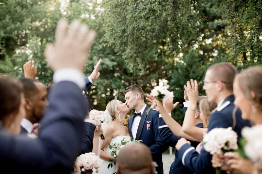 Summer Wedding Historic Mankin Mansion WVU Air Force Historic Mankin Mansion