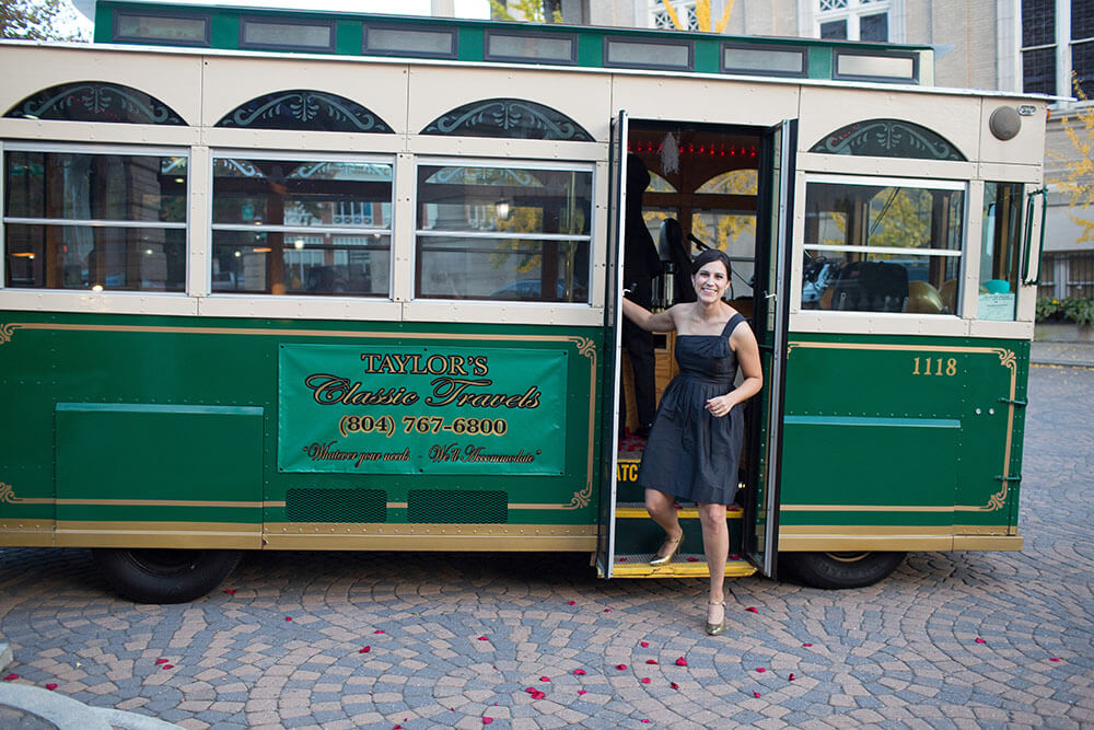 taylor's classic travels wedding trolley for richmond